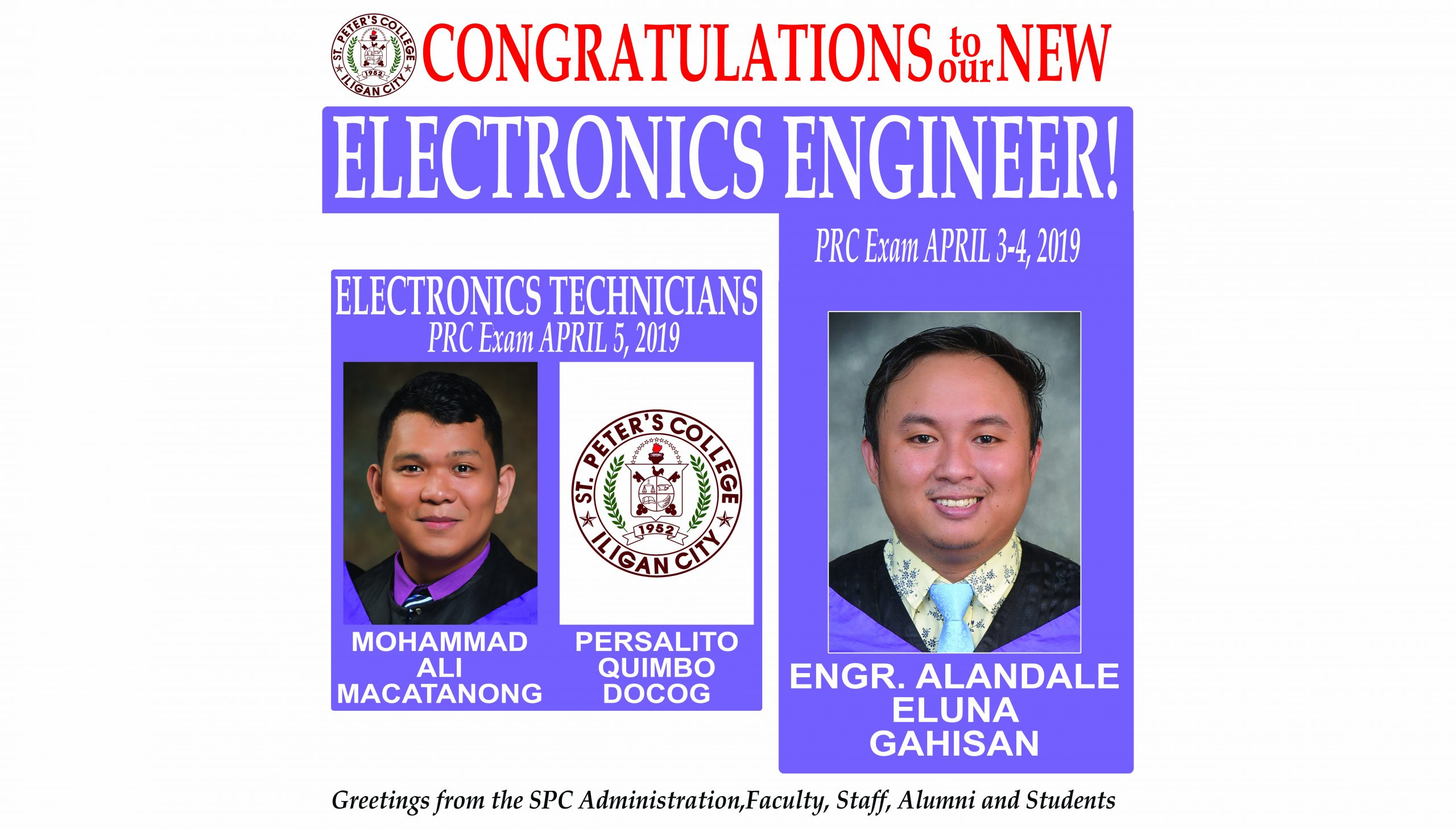 2019 April ECE, Electronics Technicians