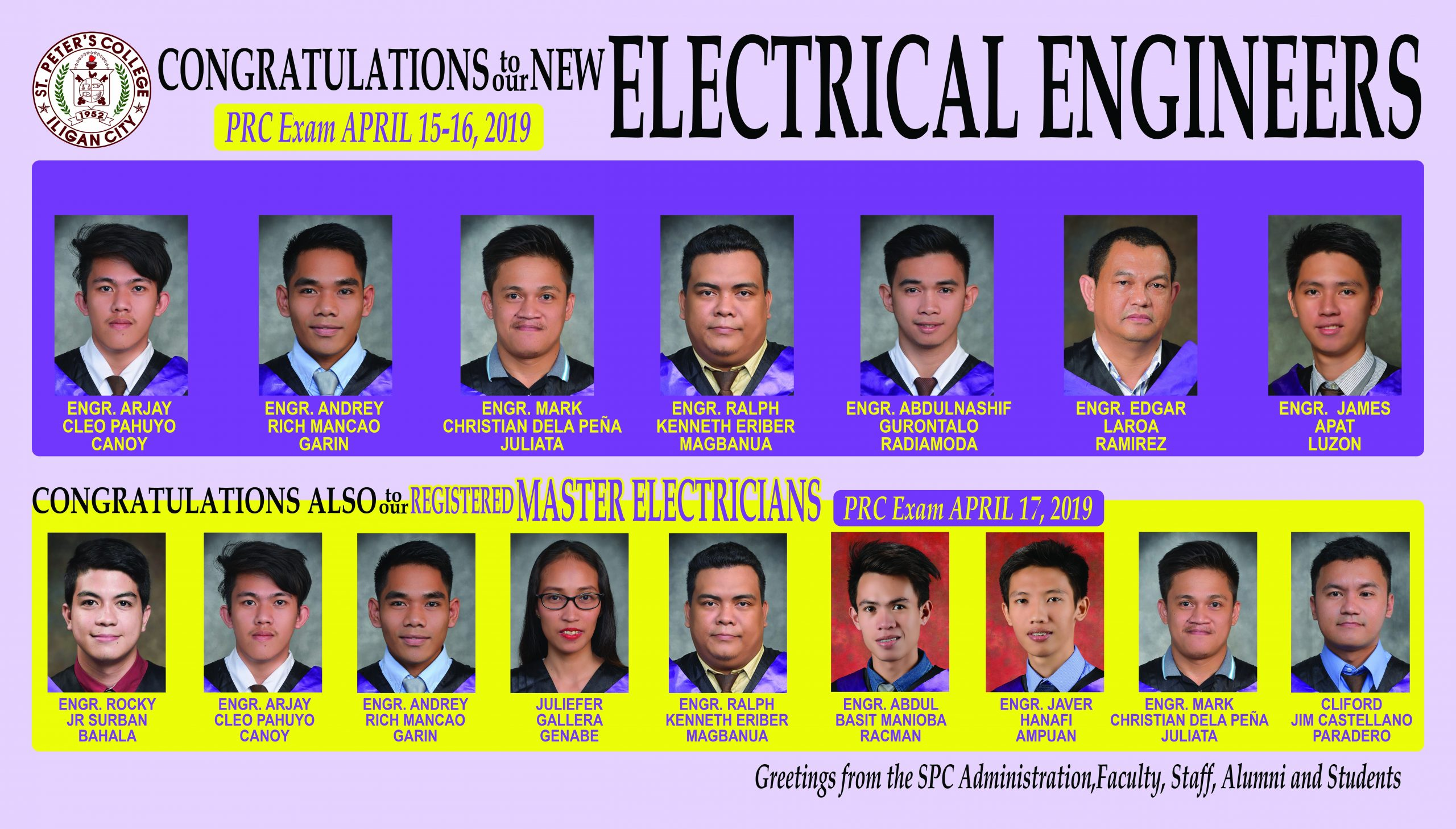 2019 April EE, Master Electricians