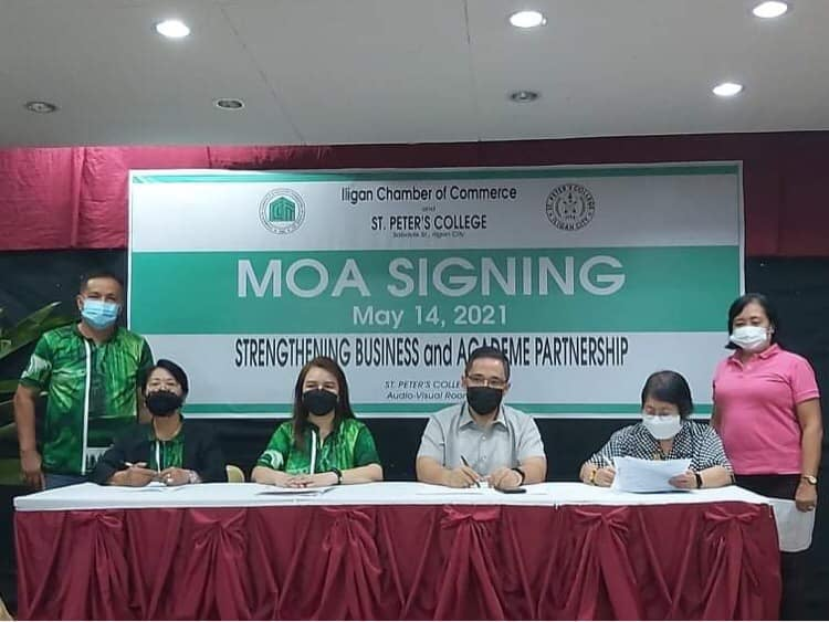 MOA between Iligan Chamber of Commerce and St. Peter's College